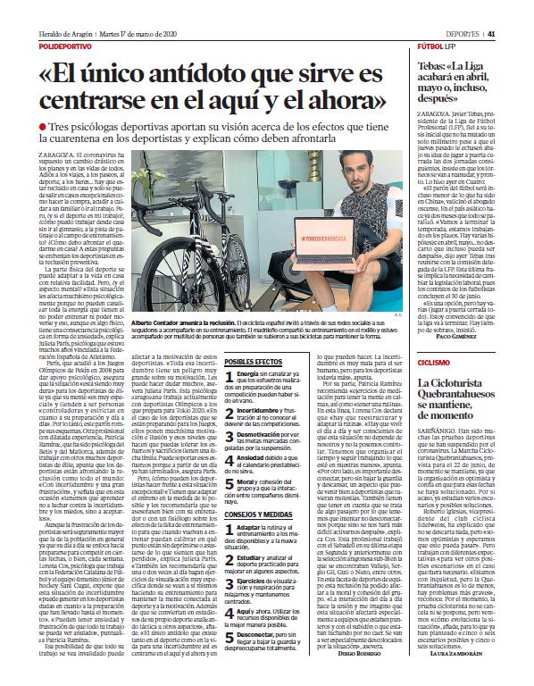 Heraldo de Aragón 17 de Marzo de 2020